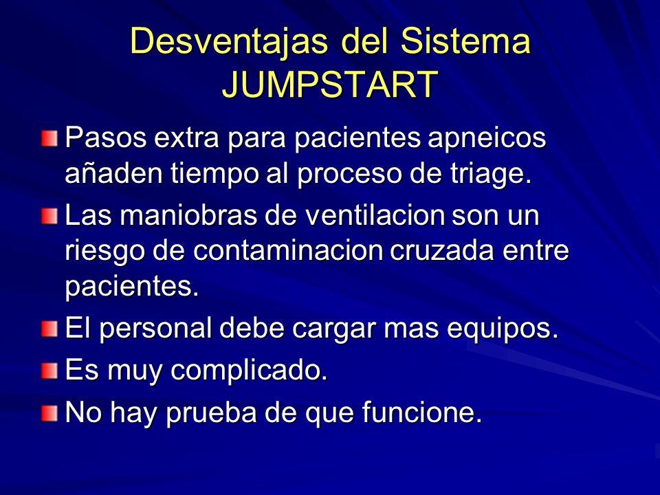 Desventajas del Sistema JUMPSTART