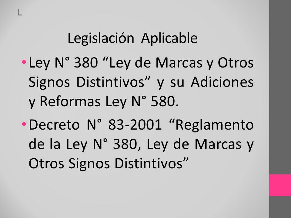 L Legislación Aplicable