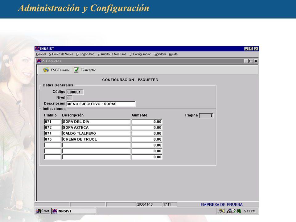 Administración y Configuración