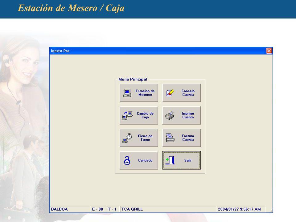 Estación de Mesero / Caja