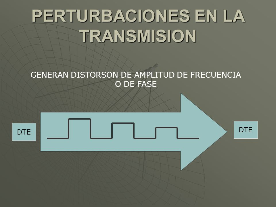 PERTURBACIONES EN LA TRANSMISION