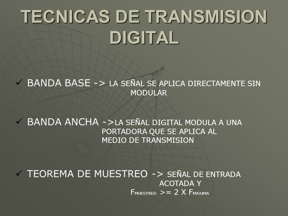 TECNICAS DE TRANSMISION DIGITAL
