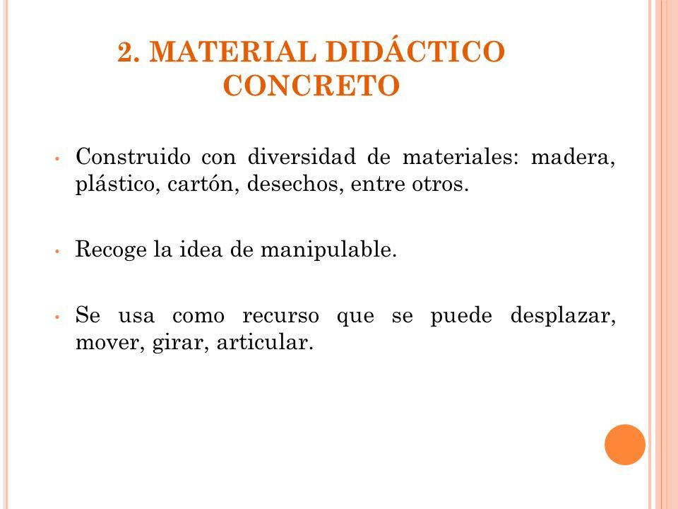 2. MATERIAL DIDÁCTICO CONCRETO