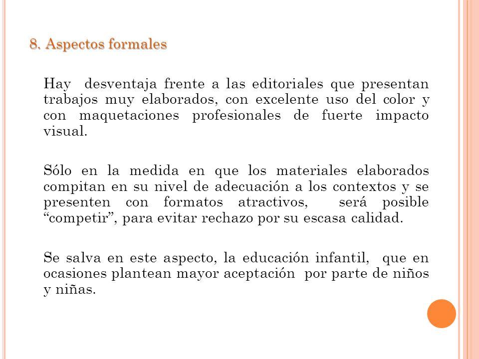 8. Aspectos formales