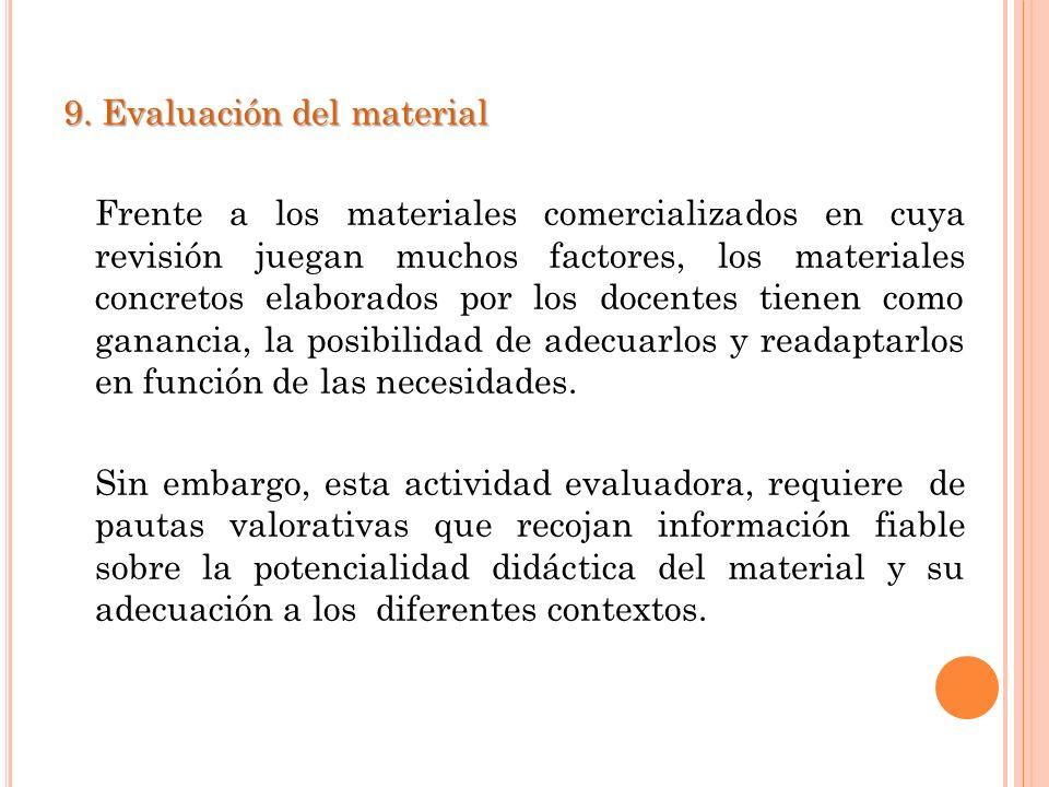 9. Evaluación del material