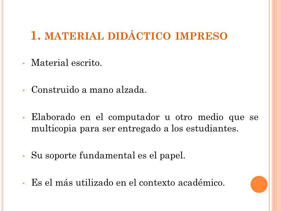 1. material didáctico impreso