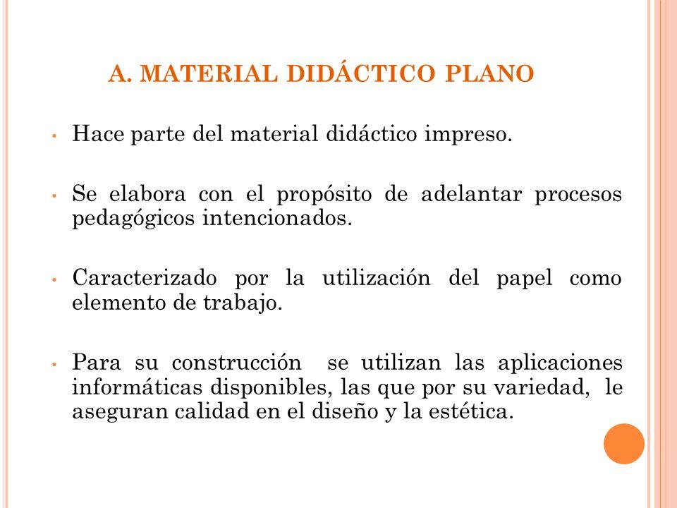A. MATERIAL DIDÁCTICO PLANO