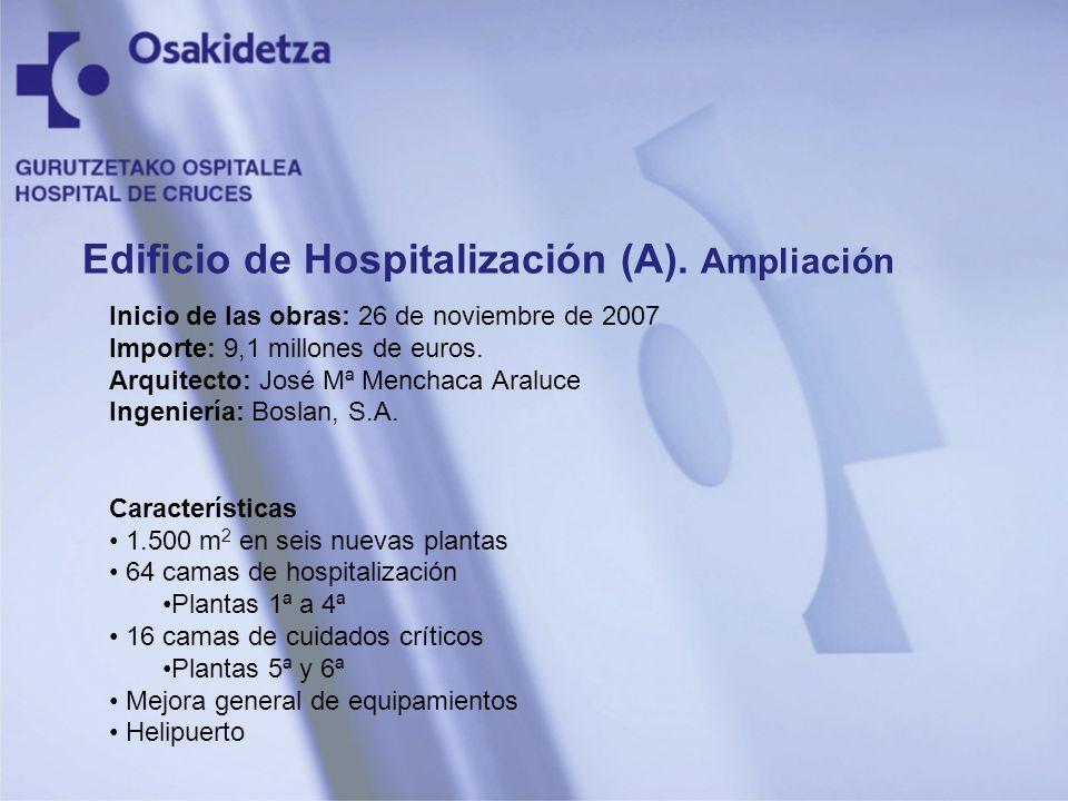 Edificio de Hospitalización (A). Ampliación
