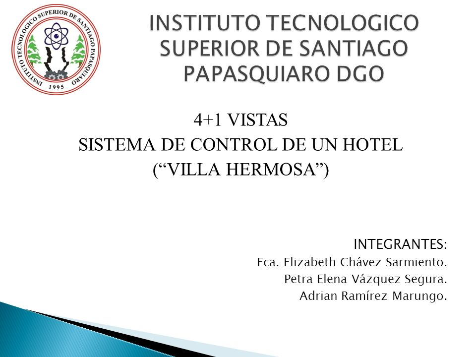 INSTITUTO TECNOLOGICO SUPERIOR DE SANTIAGO PAPASQUIARO DGO