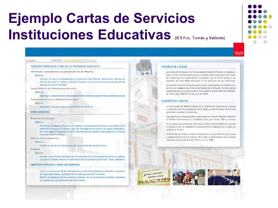 Ejemplo Cartas de Servicios