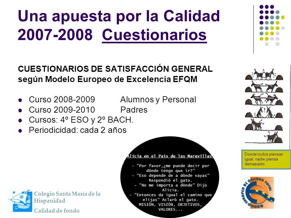 Una apuesta por la Calidad 2007-2008 Cuestionarios
