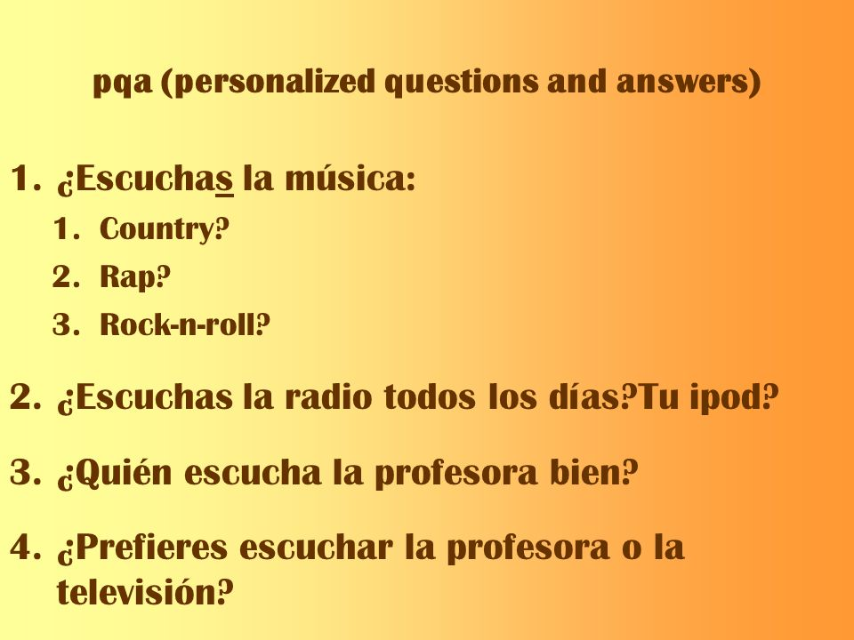 pqa (personalized questions and answers)