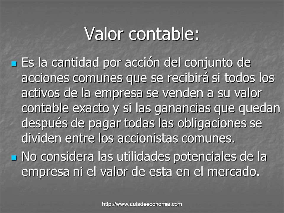 Valor contable: