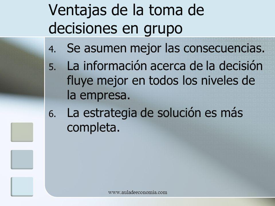 Ventajas de la toma de decisiones en grupo