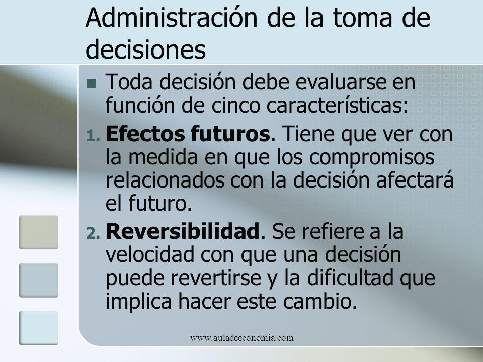 Administración de la toma de decisiones