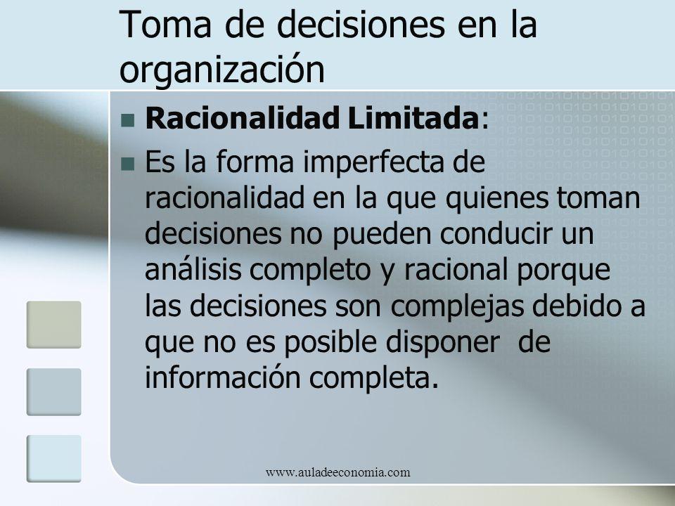 Toma de decisiones en la organización