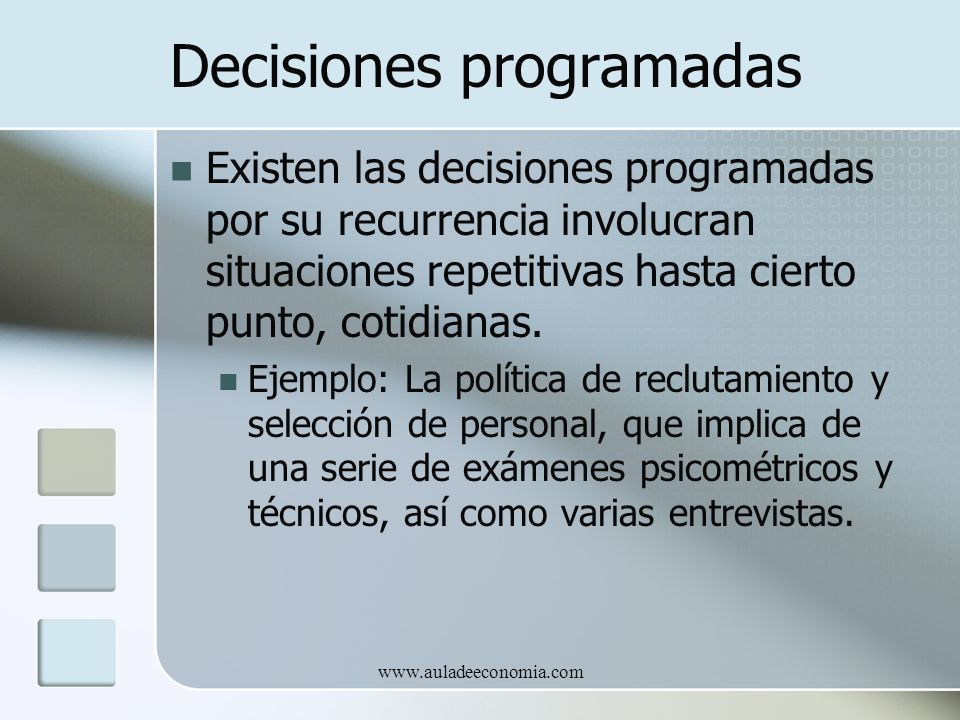 Decisiones programadas