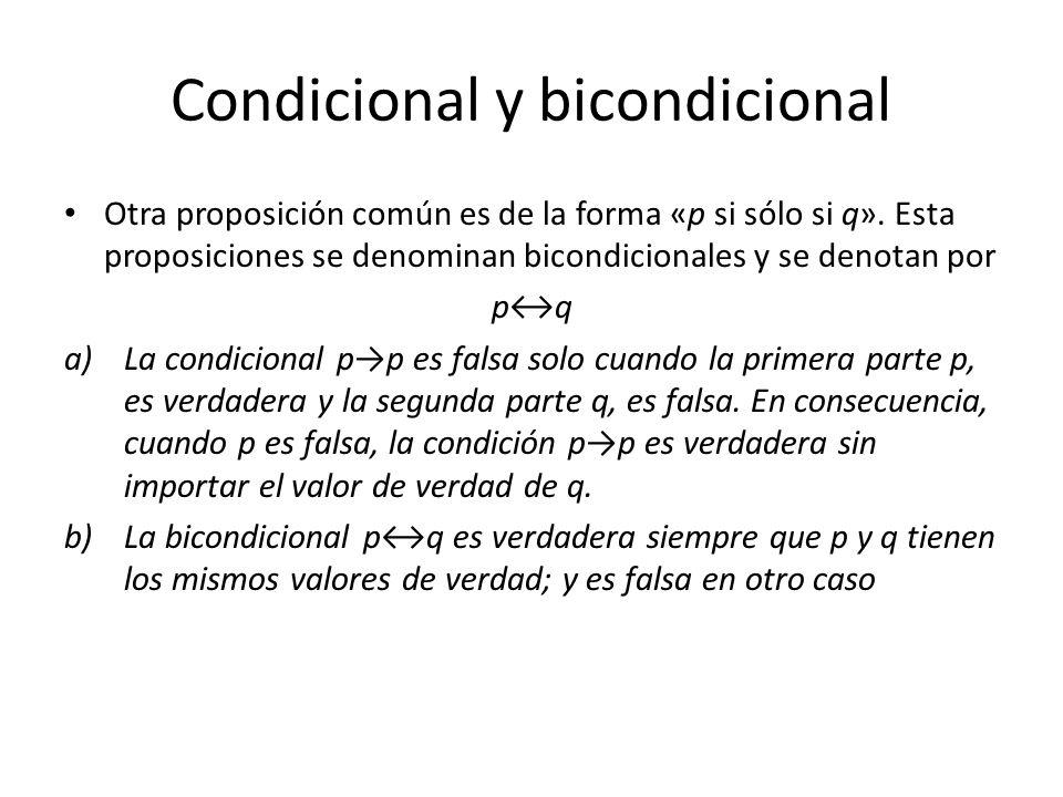 Condicional y bicondicional