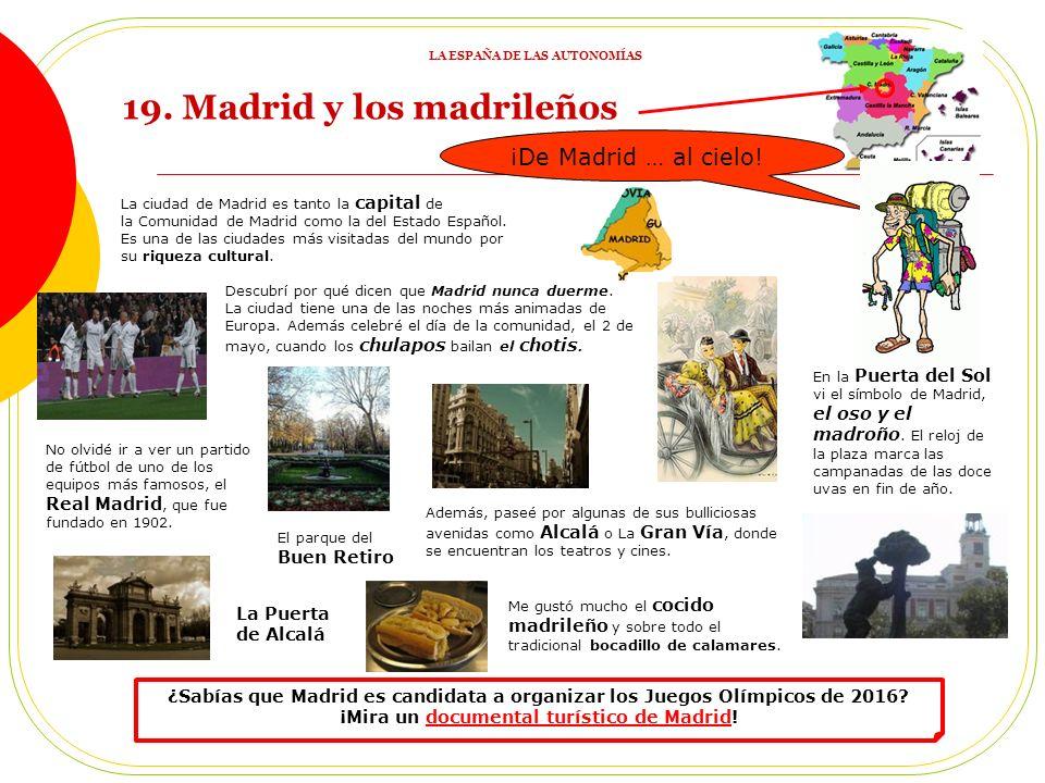 LA ESPAÑA DE LAS AUTONOMÍAS ¡Mira un documental turístico de Madrid!
