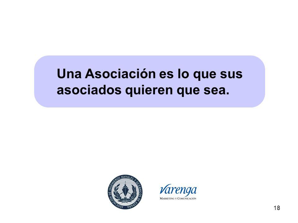 Una Asociación es lo que sus asociados quieren que sea.