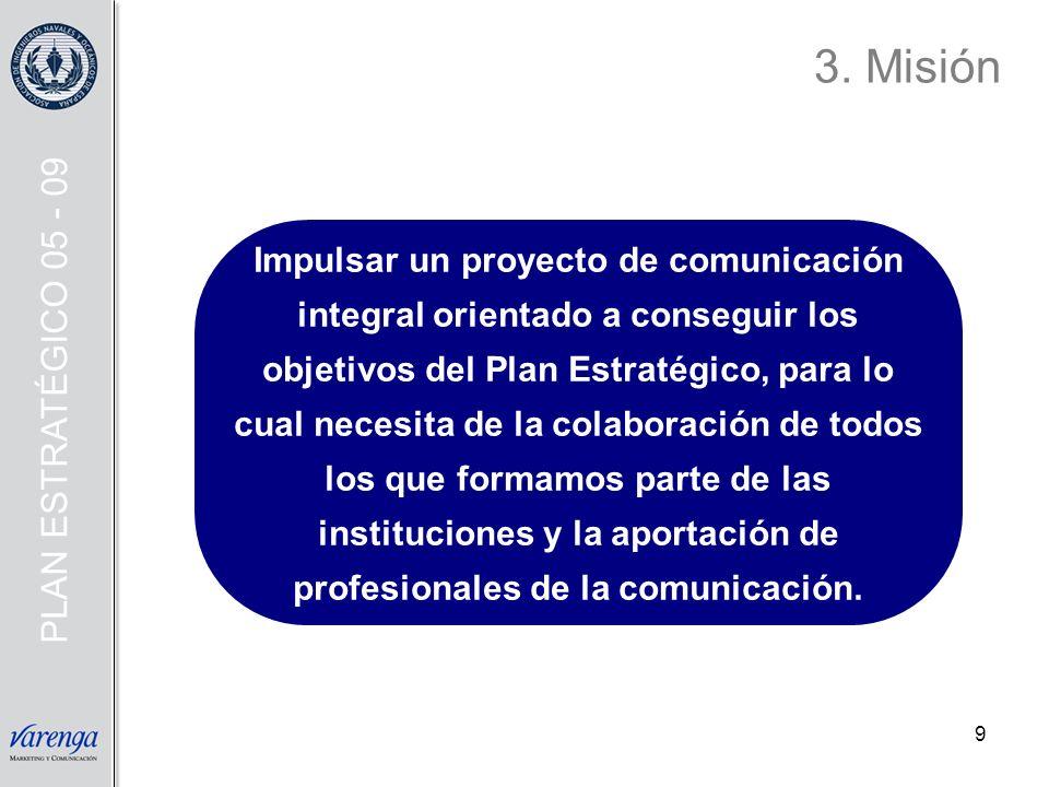 3. Misión PLAN ESTRATÉGICO 05 - 09