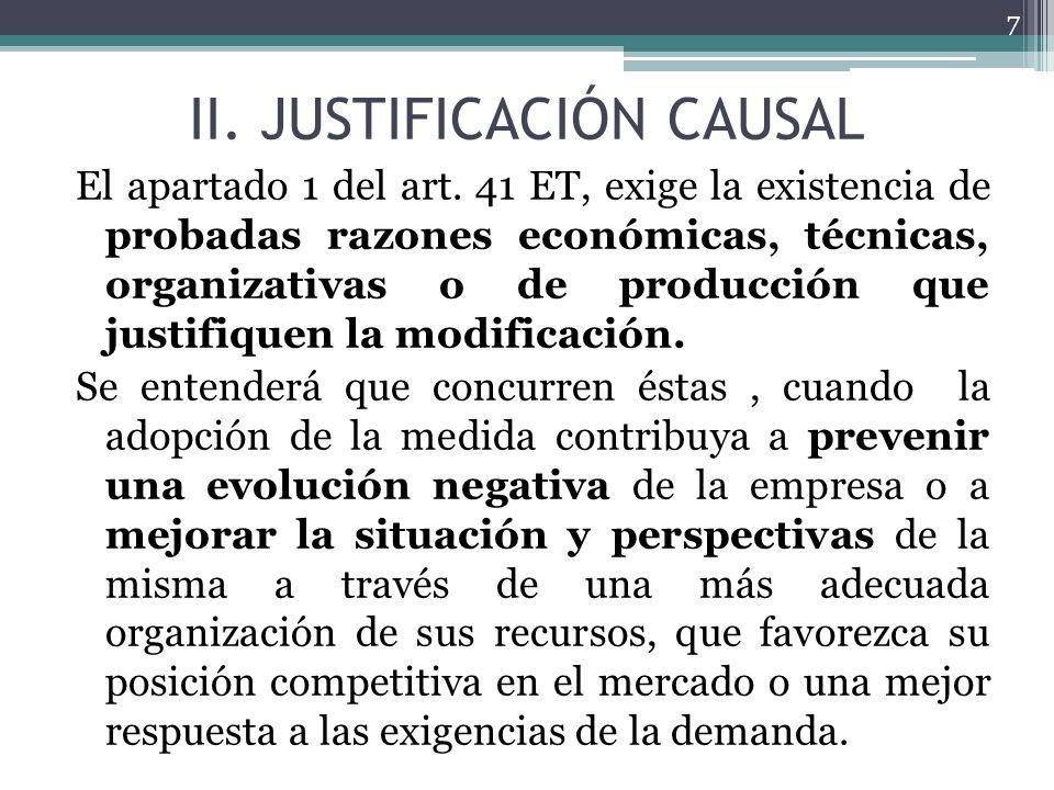 II. JUSTIFICACIÓN CAUSAL