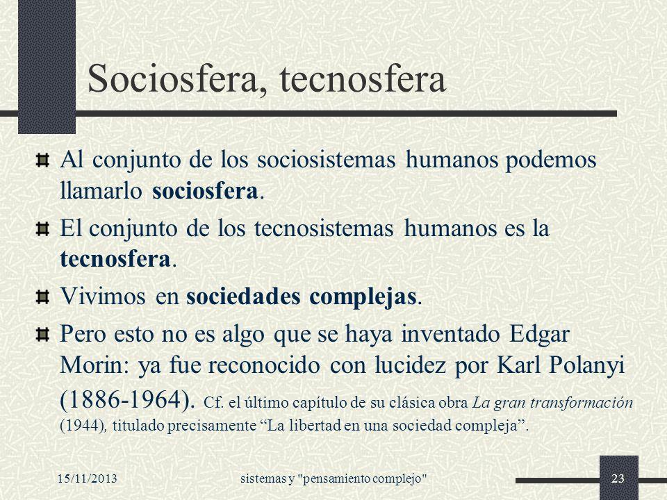 Sociosfera, tecnosfera