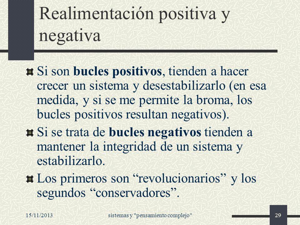 Realimentación positiva y negativa
