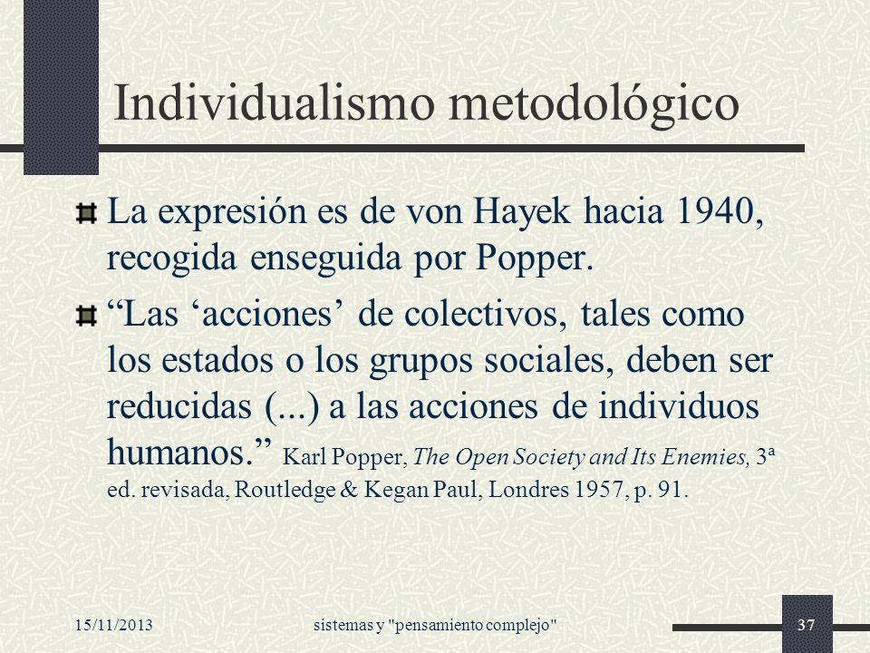 Individualismo metodológico