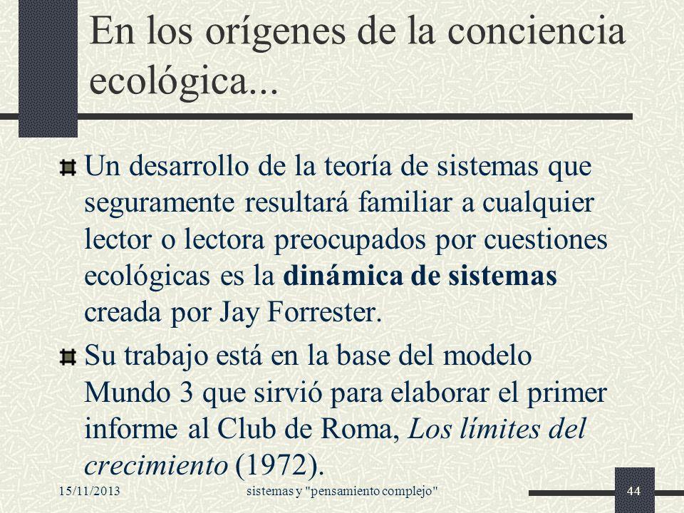 En los orígenes de la conciencia ecológica...