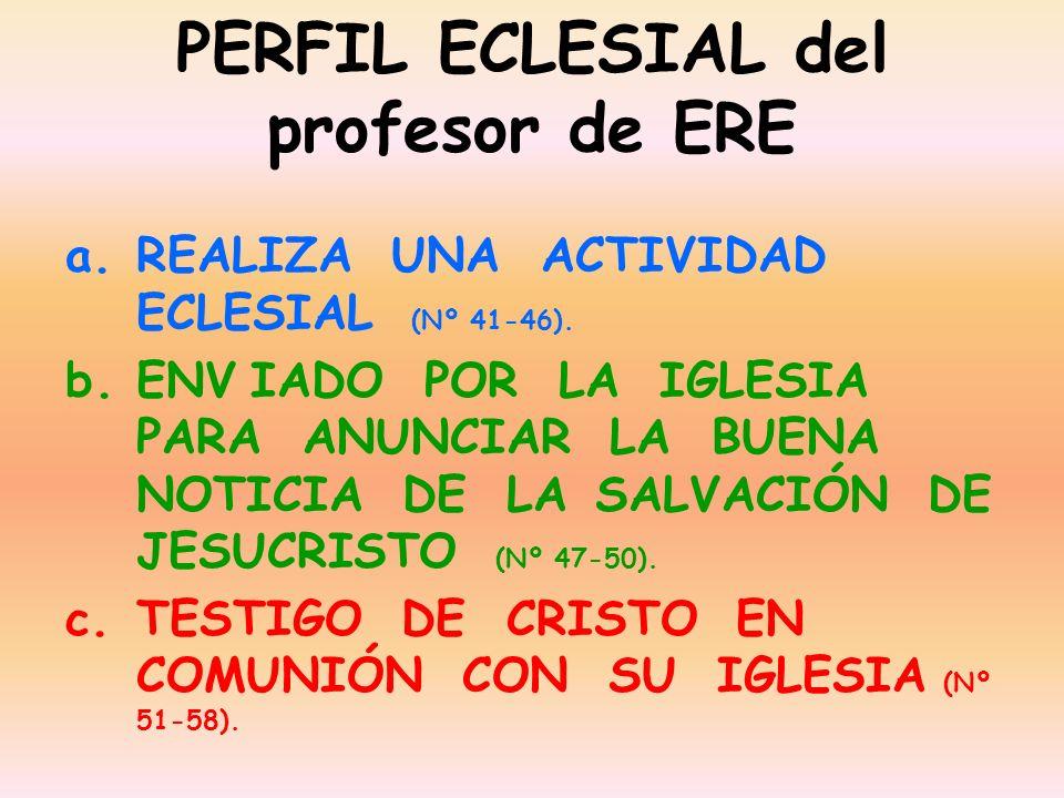 PERFIL ECLESIAL del profesor de ERE