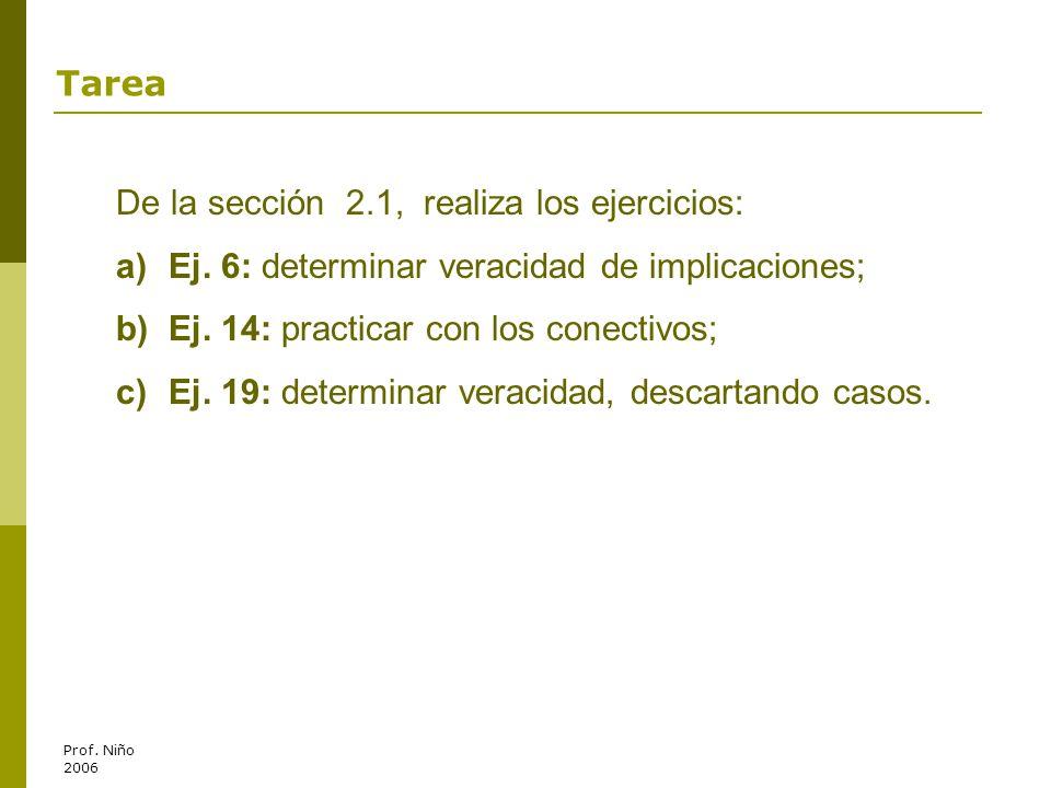 De la sección 2.1, realiza los ejercicios: