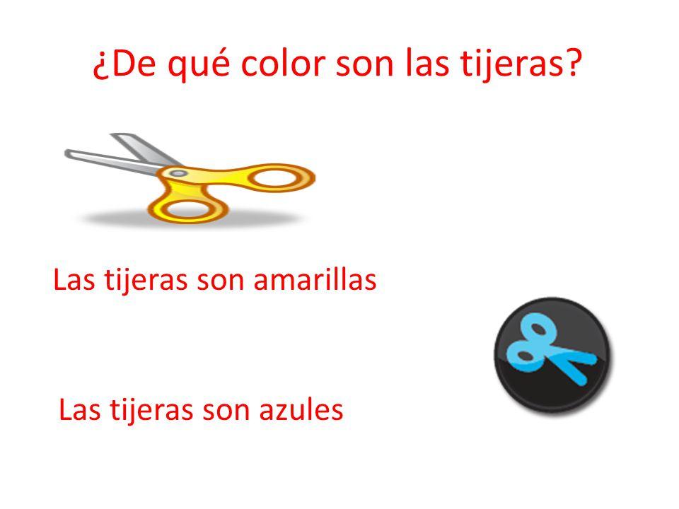 ¿De qué color son las tijeras