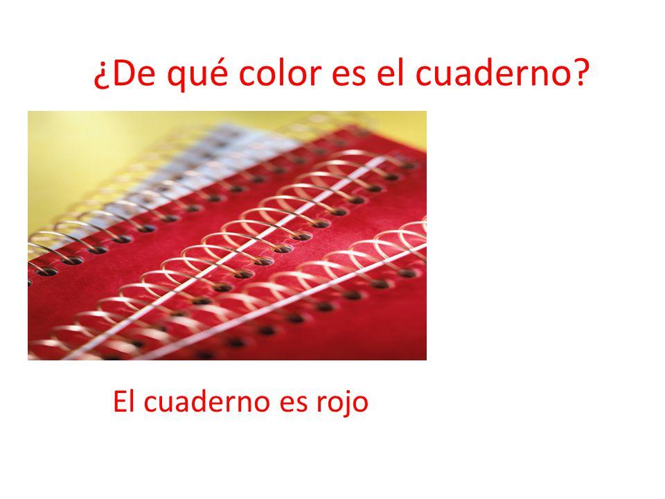 ¿De qué color es el cuaderno