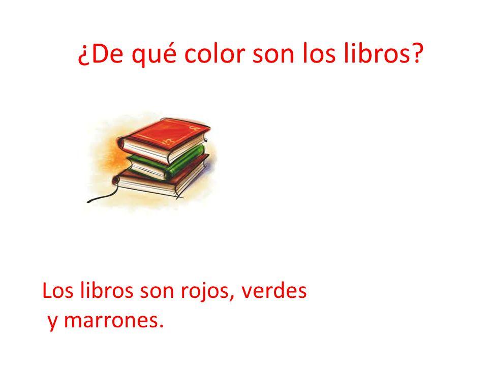 ¿De qué color son los libros