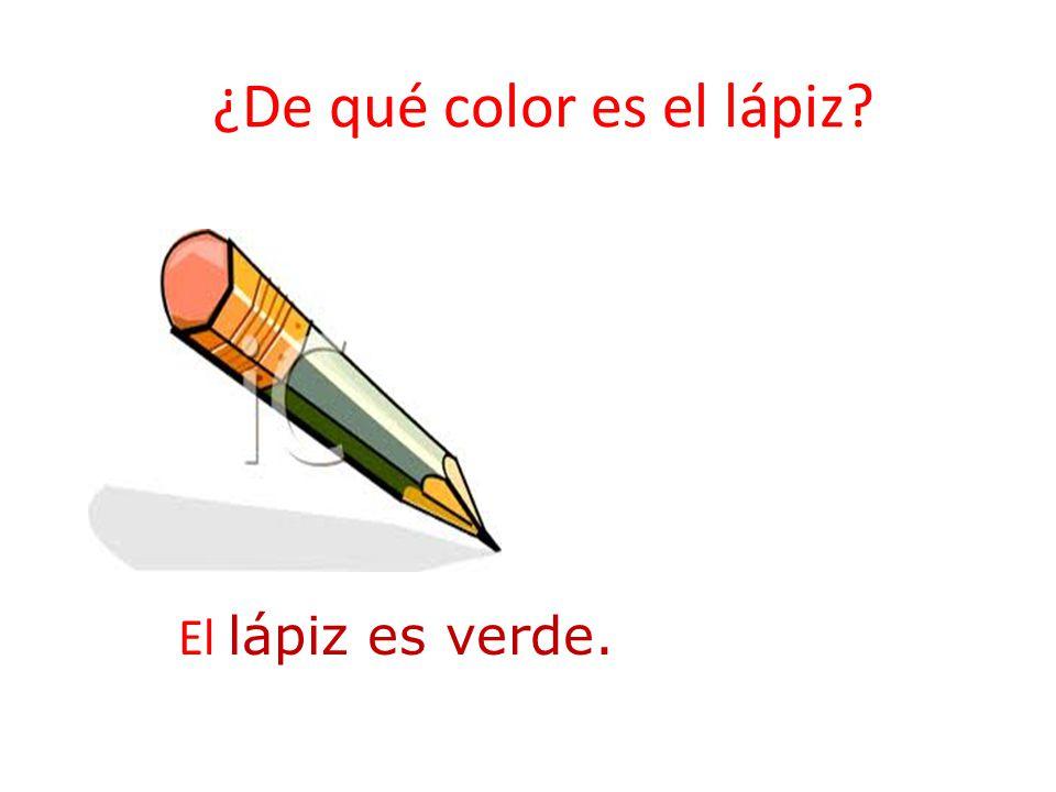 ¿De qué color es el lápiz