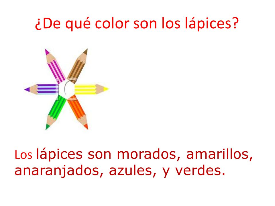 ¿De qué color son los lápices