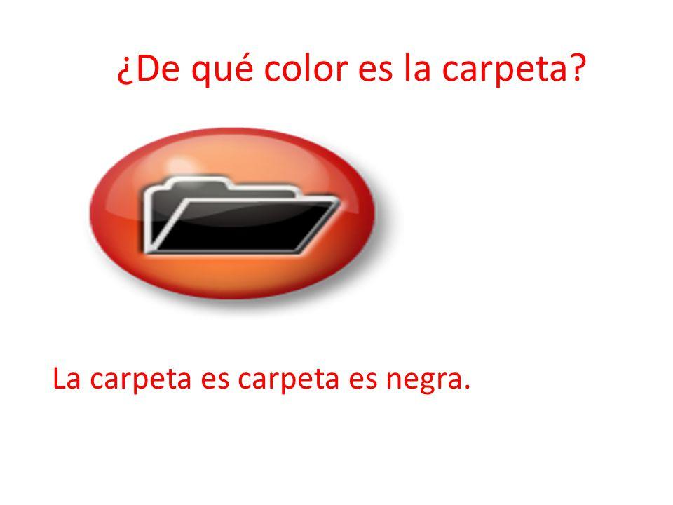 ¿De qué color es la carpeta