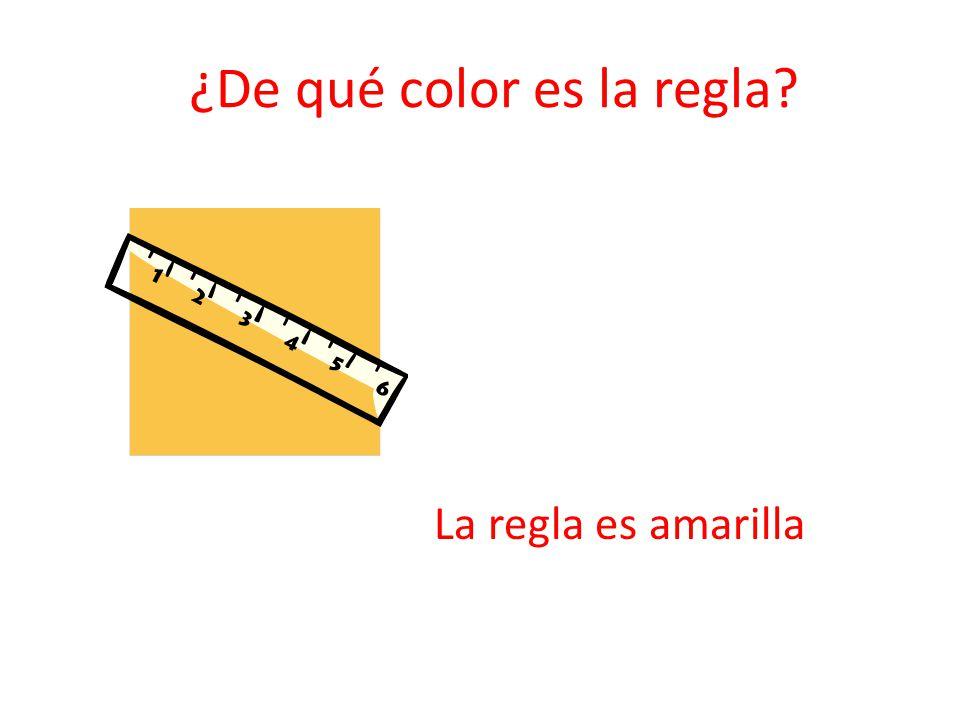 ¿De qué color es la regla