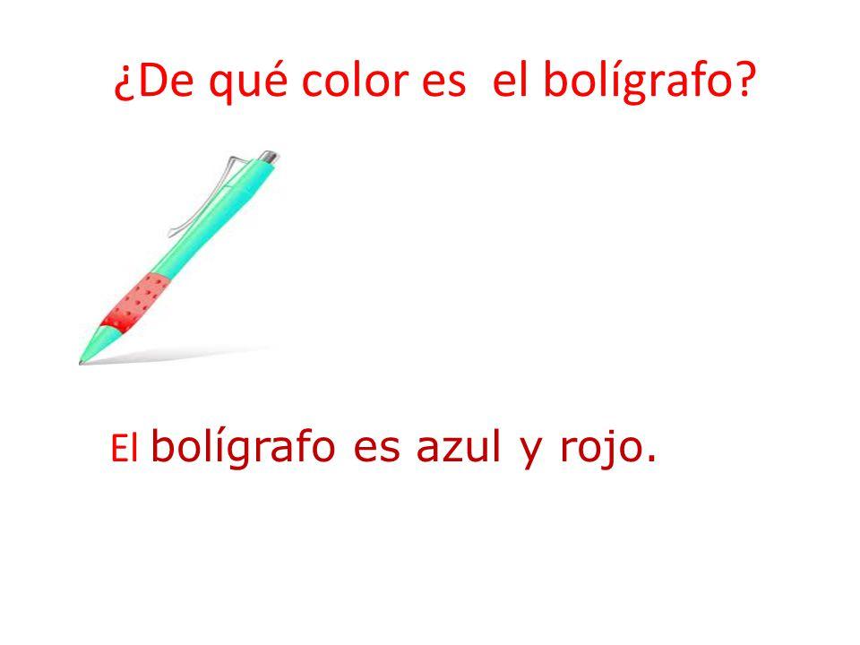 ¿De qué color es el bolígrafo