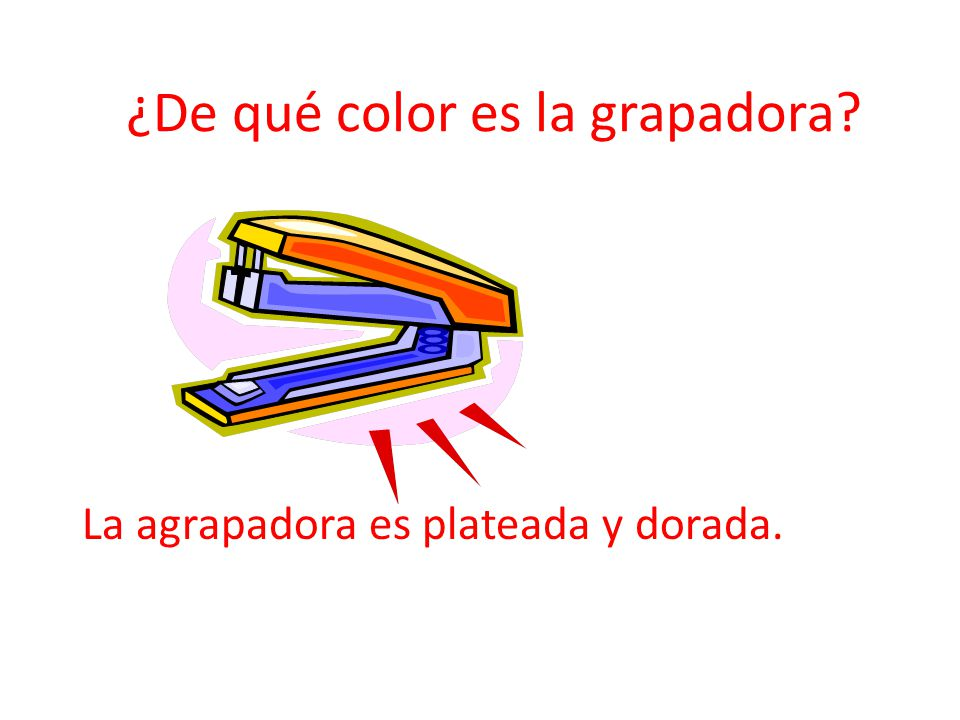 ¿De qué color es la grapadora
