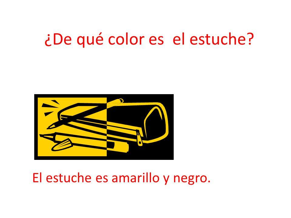 ¿De qué color es el estuche