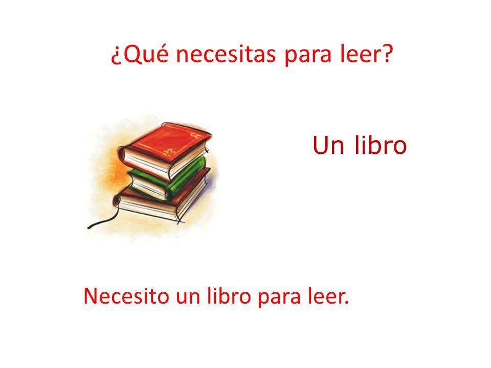 ¿Qué necesitas para leer