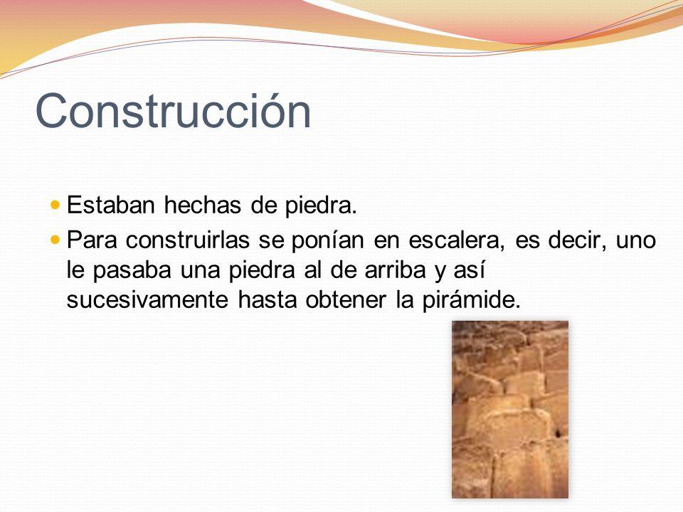 Construcción Estaban hechas de piedra.