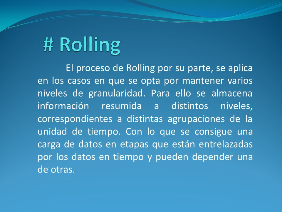 # Rolling