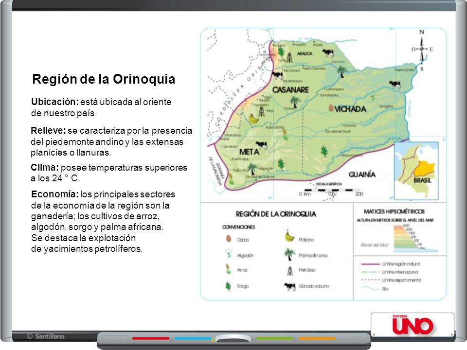 Región de la Orinoquia Ubicación: está ubicada al oriente