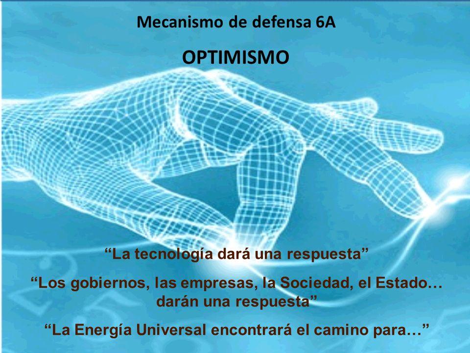 OPTIMISMO Mecanismo de defensa 6A La tecnología dará una respuesta