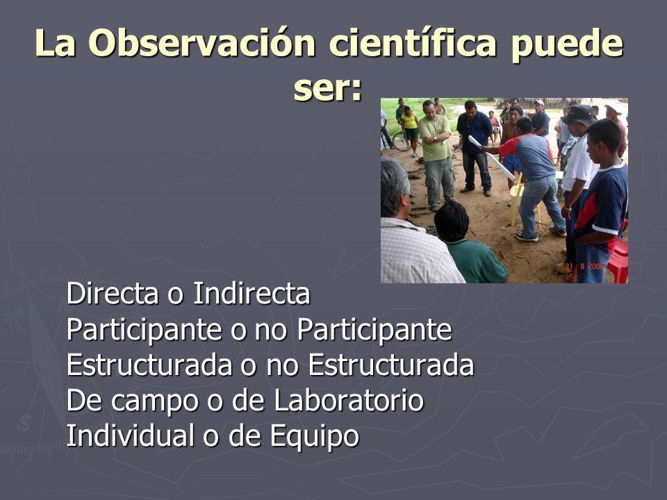 La Observación científica puede ser: