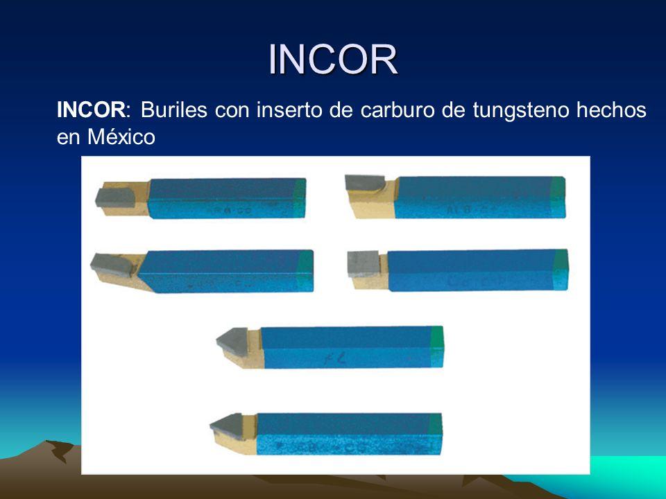 INCOR INCOR: Buriles con inserto de carburo de tungsteno hechos en México