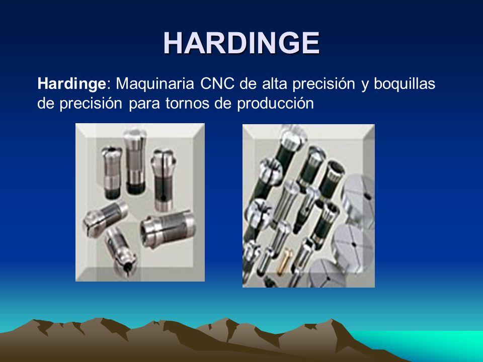 HARDINGE Hardinge: Maquinaria CNC de alta precisión y boquillas de precisión para tornos de producción.
